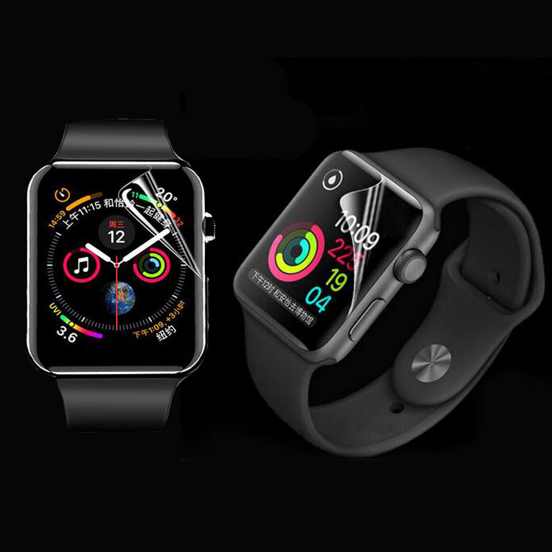 3D Hydrogel (Not Glass Clear Full Edge Cover Protective Film For Apple Watch Series 2/3/4/5 38mm 42mm 40mm 44mm Screen Protector