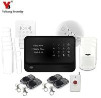 YoBang Security Android IOS APP Controls Wireless WIFI GSM Home Safety Alarm System And Wireless Keyboard G90B Smoke Fire Sensor