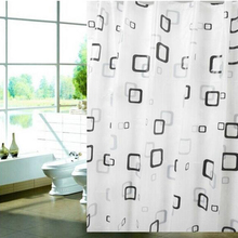 Modern Stylish PEVA material Thick Waterproof Mildew Shower Curtain  80*180cm Bathroom Products Fast Shipping B5
