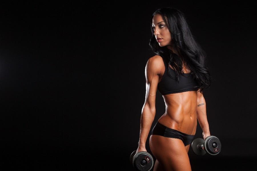 sexy fille muscle haltres sport bodybuilding fitness affiche de motivation soie tissu toile gym peinture dcorative