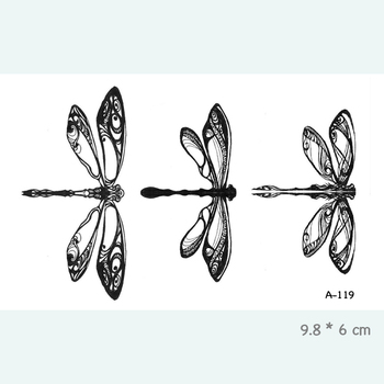 Dragonfly Waterproof Temporary Tattoo Stickers for Adults Kids Body Art  Fake Tatoo for Women Men Tattoos A-119