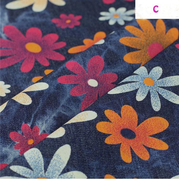 140 * 50cm1pc bun Denim 100% bumbac Fabric moale Stretch Denim Fabric - Arte, meșteșuguri și cusut - Fotografie 4