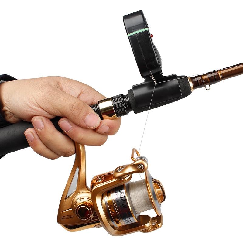 New electronic bite fish alarm bell fishing rod pole w for Bite alert fishing pole