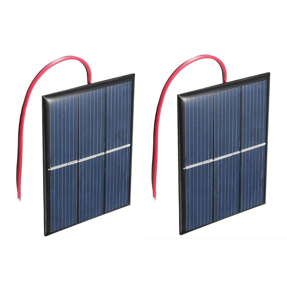 2 pcs 1.5V 400mA 80x60mm Micro-Mini Power Solar Cells For Solar Panels - DIY Projects - Toys - Battery Charger