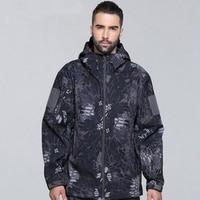 Açık Spor Su Geçirmez TAD Softshell Ceketler Veya Pantolon Erkekler Yürüyüş Kamp Rüzgarlık Taktik Avcılık Giyim