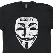 Guy Fawkes masque T Shirt anonyme désobéir Troll politique V ordinateur Vendetta Code binaire Anarchy Hacker Tee(China)