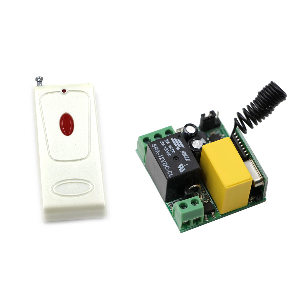 Top Sales AC220V 1 CH Wireless Remote Control Switch System 10A Relay Mini Receiver and White Remote Controller 315Mhz 433Mhz protective noctilucent tpu pc back case for iphone 5 red transparent