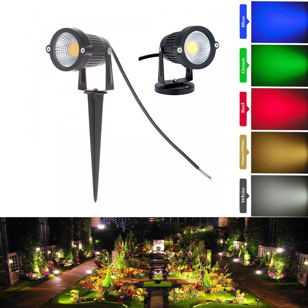 Free shipping Garden spot light led COB 3W 5W IP65 outdoor garden led spot  light 12V