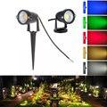 IP65 Free shipping COB 3W 5w ip65 outdoor garden led spot light 12V 110V 220V for garden lighting