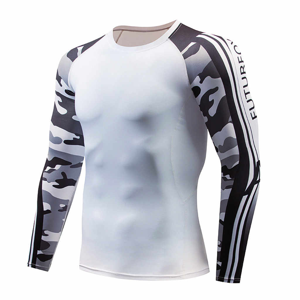 Hot Ondergoed Mannen Merk Trainingspak sneldrogende Mannen Gym Kleding Man Compressie Thermische Ondergoed Set Lange Jan10