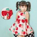 2016 лето девочка принцесса Sleeveness горошек ну вечеринку карнавальные костюмы для детей девушки одежду vestidos infantis meninas девушки платья
