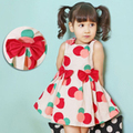2016 Baby Girl verão princesa Sleeveness Polka Dot partido Fancy Dress crianças roupas das meninas vestidos infantis meninas meninas vestidos