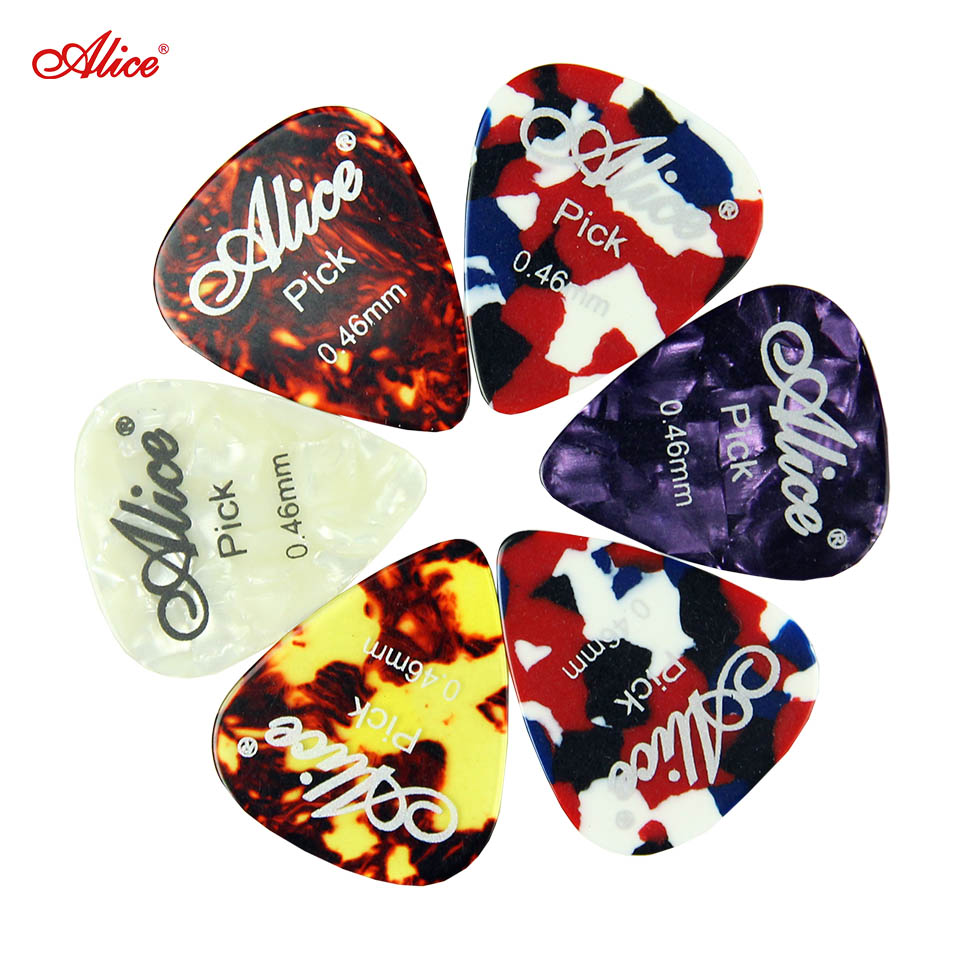 Alice 6pcs Bass Guitar Picks Multi Smooth Celluloid materials Custom Acoustic Electric Guitarra Plectrums Accessories Musical