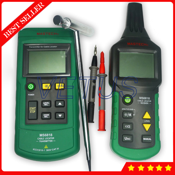 цена на MS6818 Cable length measuring meter counter with Pipe Locator Detector Tester