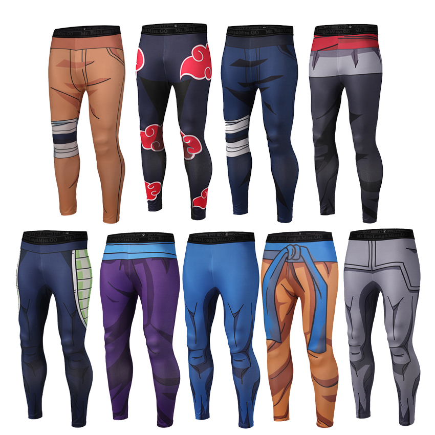 Men Fitness Quick Dry Pants Dragon Ball Z Naruto Goku Black Vegeta Cosplay Bodybuilding Skinny Leggings Trouser Tight Sweatpants