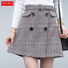 7dfe3835e Comparar precios en Woolen Midi Plaid Skirt - Online Shopping ...