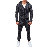 2018 New Men' Fashion 2 Parts Hooded Sweatshirt and Pants Set S 2XL