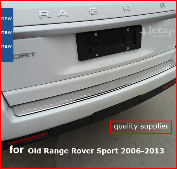new arrival rear bumper protection/door sill cover scuff plate for old Range Rover Sport 2006-2013,high quality guarantee for land rover range rover sport stainless inside door sill scuff plate 2014 2017 4pcs silver black