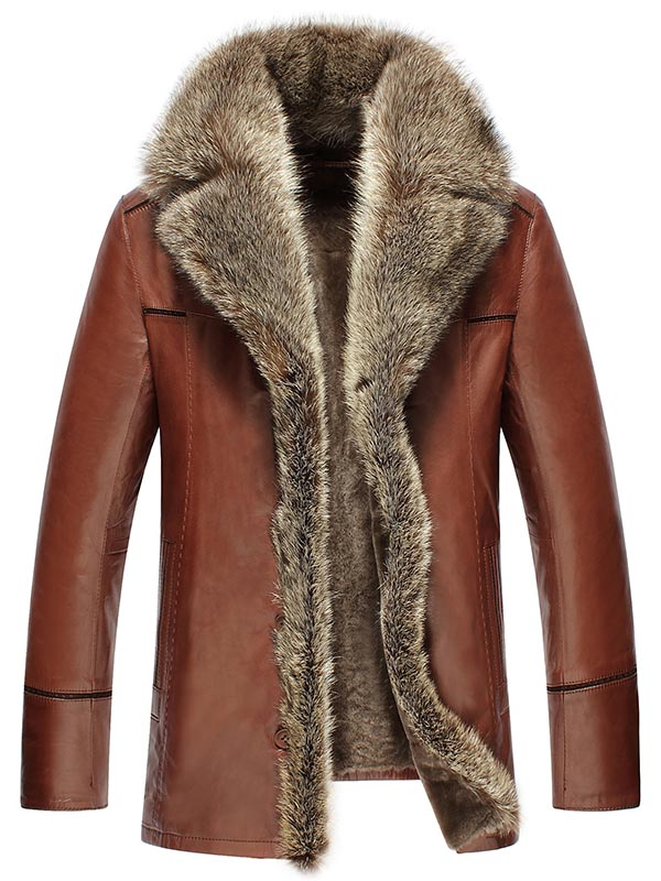 bcbf96fa6c9 Faux Fur Collar men Faux Leather Jackets Winter Thicken Coat jaqueta de  couro chaqueta PU Leather jacket men
