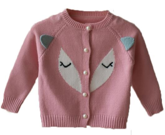 aca79c7ac40e Baby sweater spring and autumn knit jacket 0 2 year old girl sweater ...