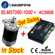 Set Sales Leadshine BLM57130 Brushless DC servo motor and ACS606 Servo Drive and  encoder extension cable and RS232 tuning cable sgmgv 09adc61 sgdv 7r6a01a 850w 1500rpm 5 39n m 130mm frame sigma 5 ac servo motor drive kits with 3m power and encoder cable