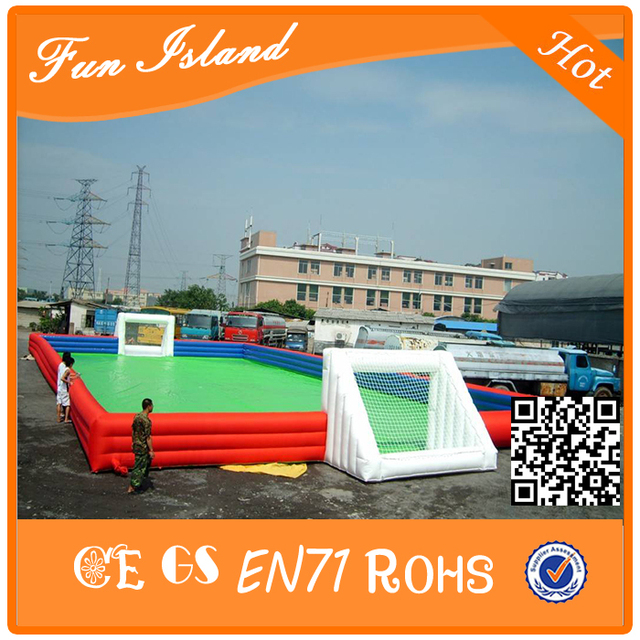 Hot durable inflatable water soccer field/inflatable football pitch/cheap football field