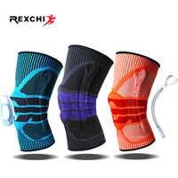 REXCHI Elastische Silicon Padded Basketball Knie Pads Unterstützung Patella Brace Kneepad für Fitness Getriebe Volleyball Sport Schutz