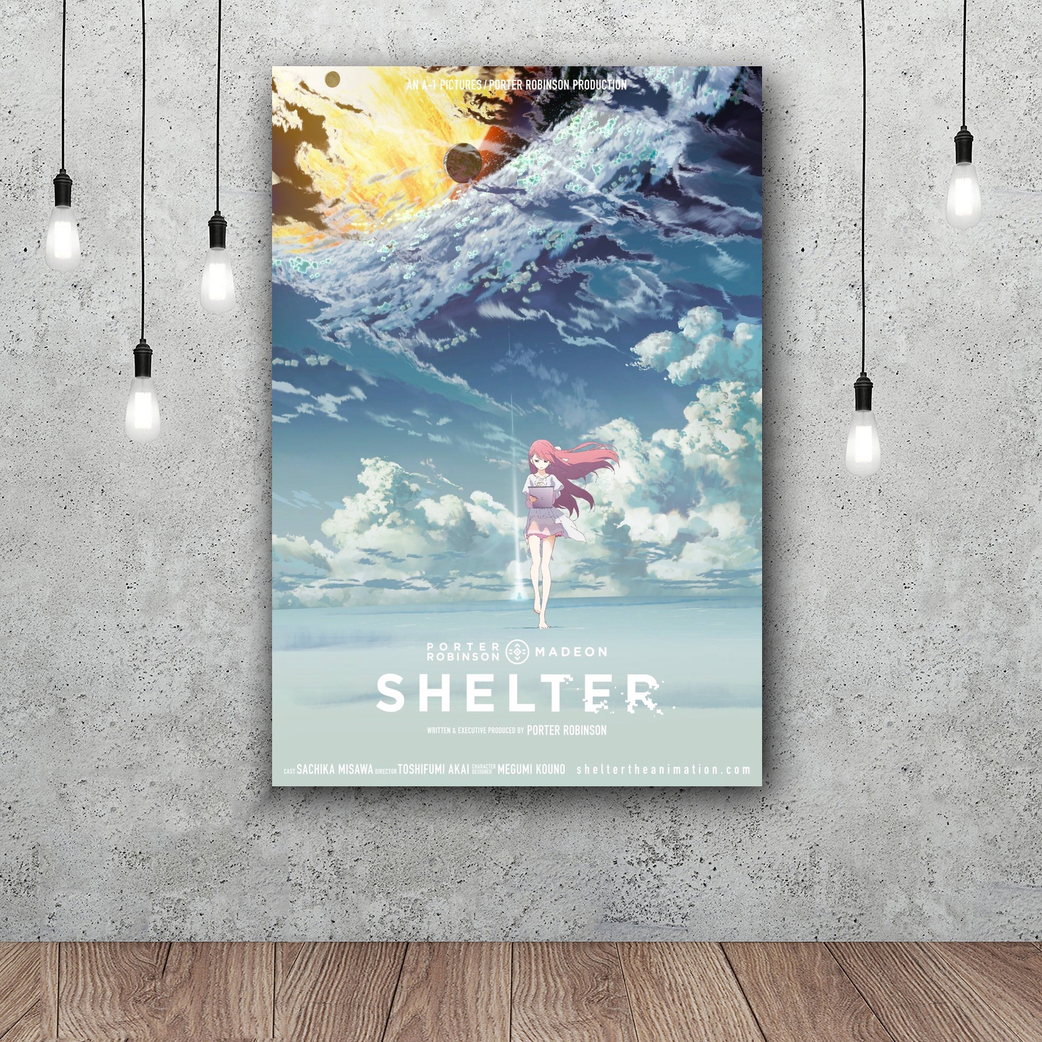 Shelter Porter Robinson Short Anime Movie Hot Art Poster Silk Light Canvas Painting Print For Home Decor Wall Picture In Calligraphy From
