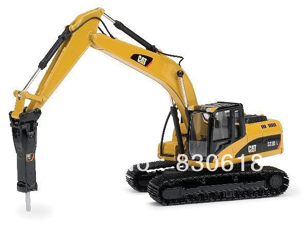 Norscot Caterpillar 323D L Excavator NEW 1:50 with H120E Hydraulic Hammer 55282 toy