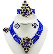 Oro africano de color conjuntos de joyas de piedra de alta calidad del grano de la joyería de moda collar de la joyería de la boda