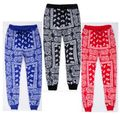 Women Hip Hop sweatpants Women's Casual Harem Pants Unisex streetwear Cotton Joggers Red blue bandana Pants 011802
