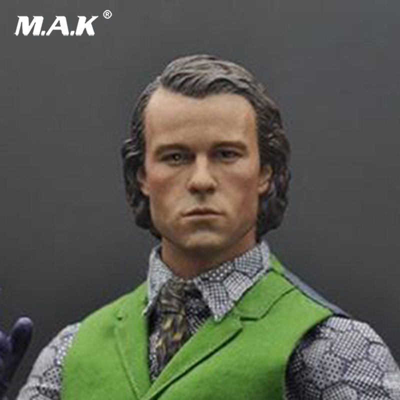 1:6 Male Head Sculpt The Joker Heath Ledger head Model PVC Head Carving for 12 Figure Doll Action Figure Accessory 1 6 female head for 12 action figure doll accessories marvel s the avengers agents of s h i e l d maria hill doll head sculpt