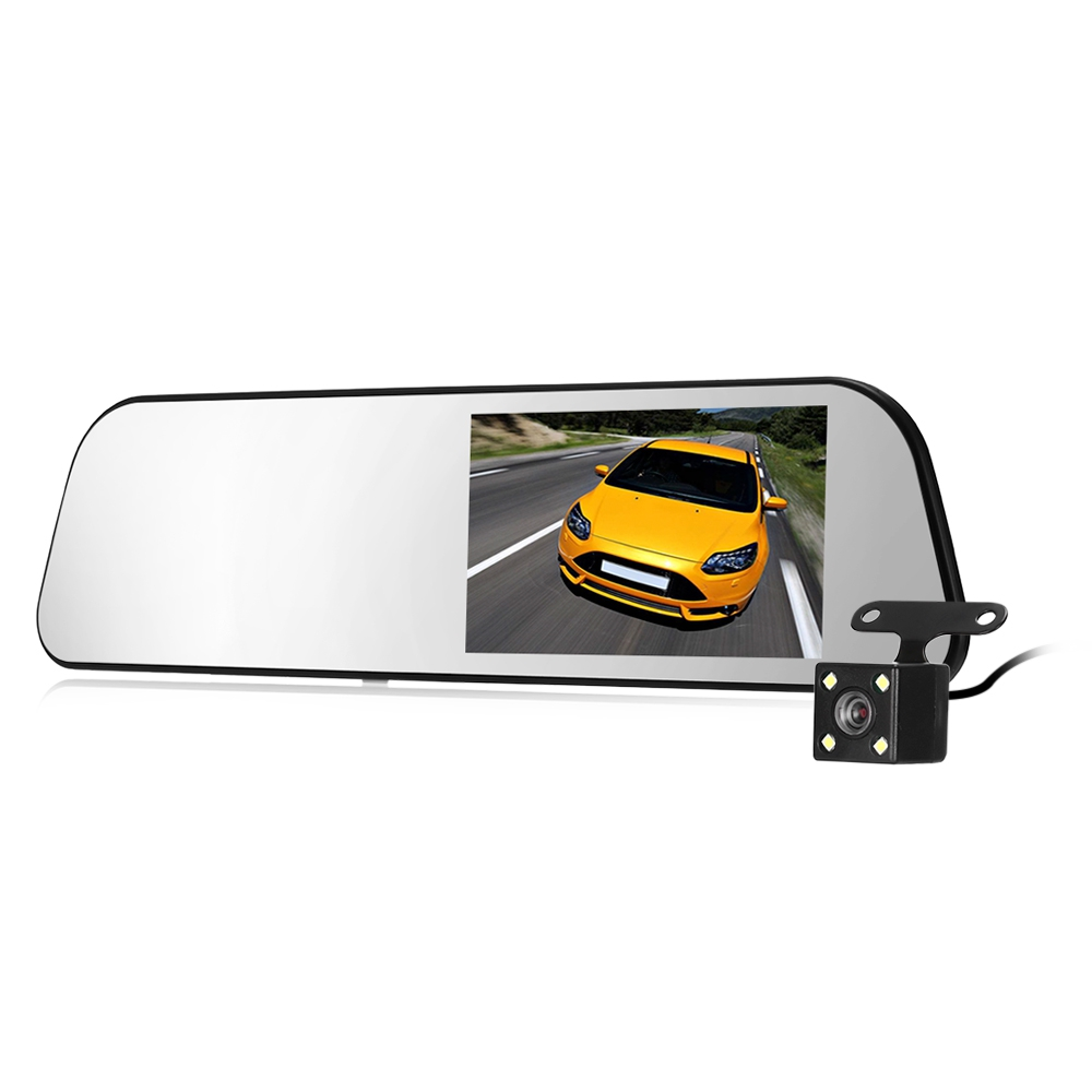 UC58 Smart Rear Mirror Dash Cam Dual Camera WDR Night Vision Car Driving Recorder 5 inch LCD screen cyclic record G-sensor