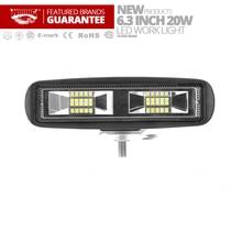 Flood light 6.3″ 20W LED Light Bar 12V 24V Led Bar Driving Work Light For 4×4 Offroad SUV Car Truck Tractor Toyota Auto Fog Lamp