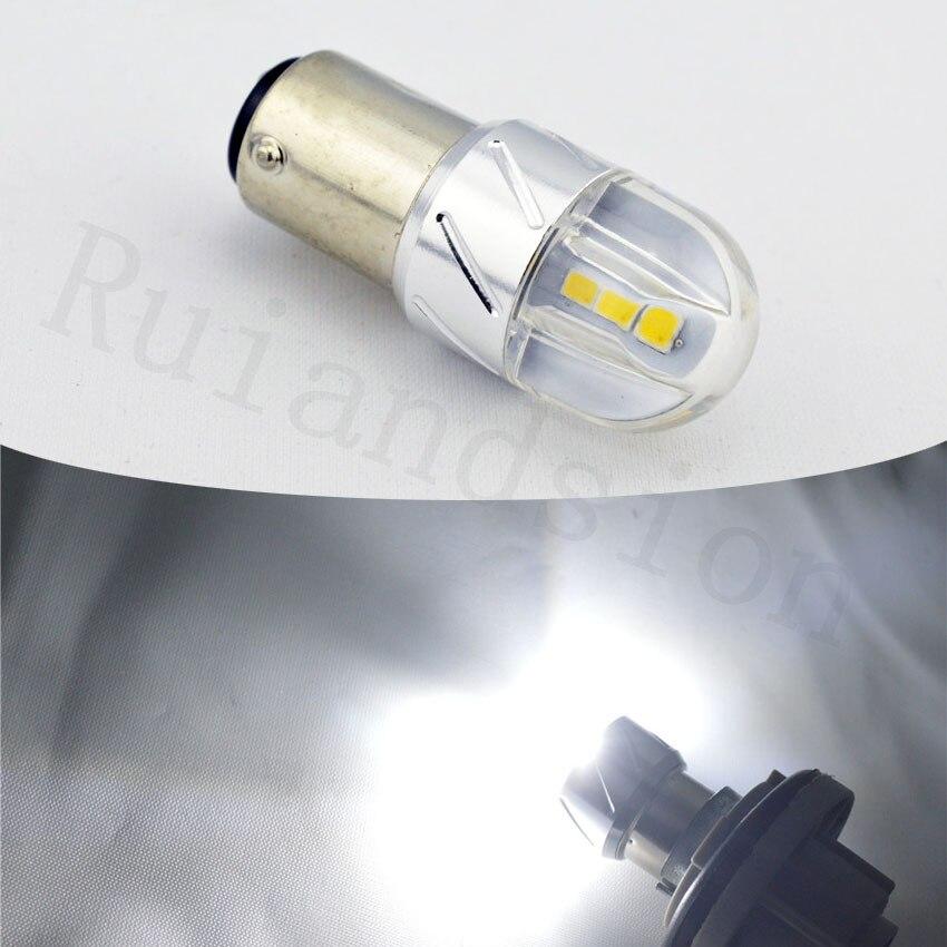 Ruiandsion 1pc 1157 6 3030 SMD BAY15D 4W High Power lamp p21/5w led car bulbs 12V 24V White/Red/Amber