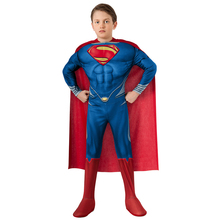 Boy Child Superman Cosplay Costume Halloween Carnival Muscle Superhero Fancy Party Dress Superhero Anime Cosplay Costume carnival costume christmas costume boy cosplay the hulk anime characters halloween costume for kids clothes