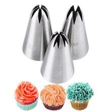 Boquilla grande de acero inoxidable para glaseado de pasteles, Juego de puntas de pastelería para hornear y Fondant, herramienta de decoración de magdalenas