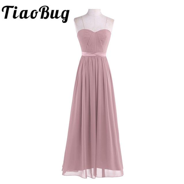 Dusty Rose Mooie Geplooide Hoge Taille Bruidsmeisje Jurk Elegante Prachtige Sexy Strapless Lange 2020 Nieuwe Collectie Wedding Party Dress