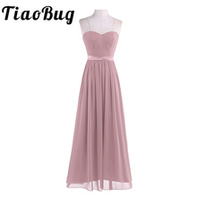Dusty Rose Pretty Pleated High waist Bridesmaid Dress Elegant Gorgeous Sexy Strapless Long 2020 New Arrival Wedding Party Dress
