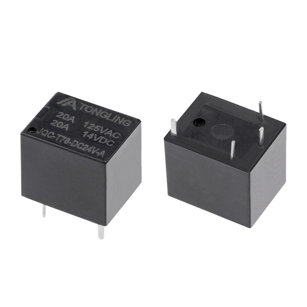 UXCELL 5 Pcs <font><b>Relays</b></font> JQC-<font><b>T78</b></font>-DC24V-A DC 24V Coil SPST 4 Pin PCB Electromagnetic Power <font><b>Relay</b></font> Supplies For Electronic Equipment image