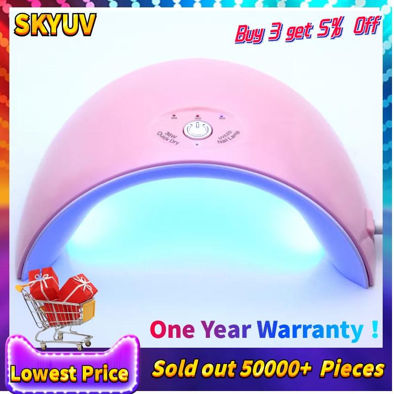Nuevo Led 36 W lámpara UV 12 piezas LED secador de uñas para uñas de Gel polaco manicura con botón temporizador sensor de herramientas del arte del clavo