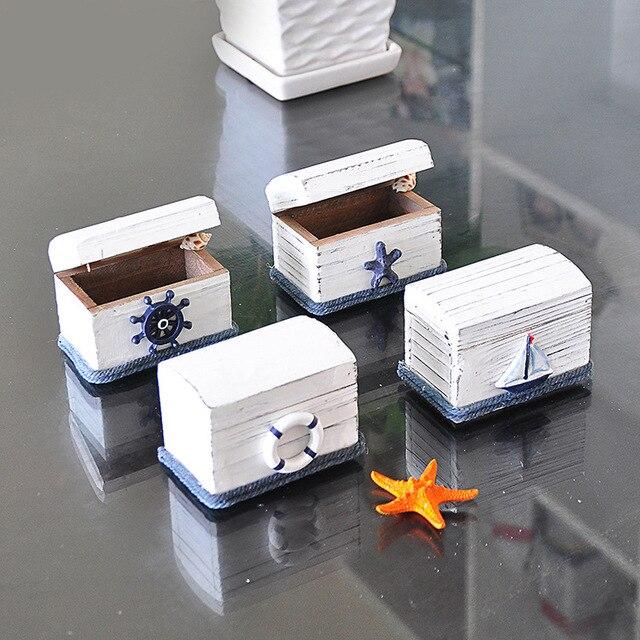 Small Jewelry Box Creative Design Mediterranean style White Washed