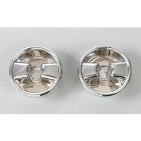 Pair Chrome ABS Car Roof Switch Control Knob Bezel Cover Trim Fit for Jeep Wrangler JK 2007 2016