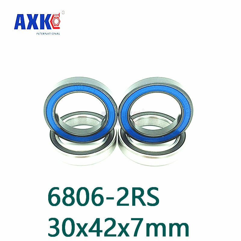 2018 New Rolamento Axk Free Shipping 2pcs 6806 61806 2rs Si3n4 Ceramic Ball Bearing Rubber Sealed Bb30 Hubs 6806-2rs 30x42x7mm free shipping 6806 2rs cb 61806 full si3n4 ceramic deep groove ball bearing 30x42x7mm bb30 bike repaire bearing