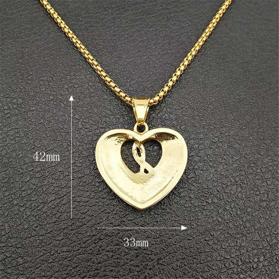 Damska męska nuta naszyjnik w kształcie serca i wisiorek złoty kolor stal nierdzewna Iced Out łańcuch tenisowy Hip Hop biżuteria na prezent