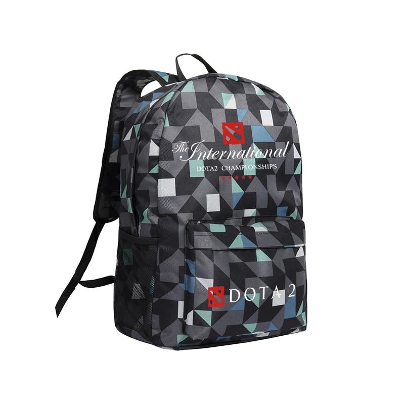 Dota 2 Backpack Children School Bag Camouflage Travebag Kids Bookbag Dota