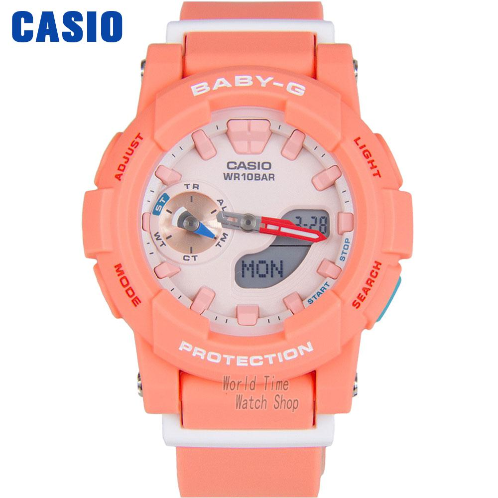 Casio watch Fashion casual candy color waterproof ladies watch BGA-185-4A 7A BGA-185TR-7A