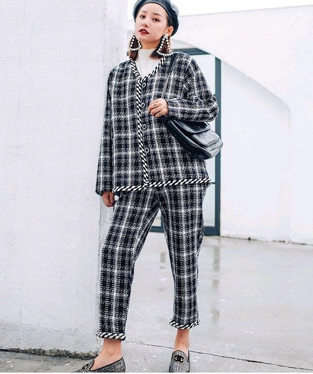 Féminin Costume Chaud Automne 2018 Professionnel Célèbre Tweed pièce Deux D'hiver Chic Noir Nouveau Déesse Et Parfum Temperamentj20190100 w5qIXcWt
