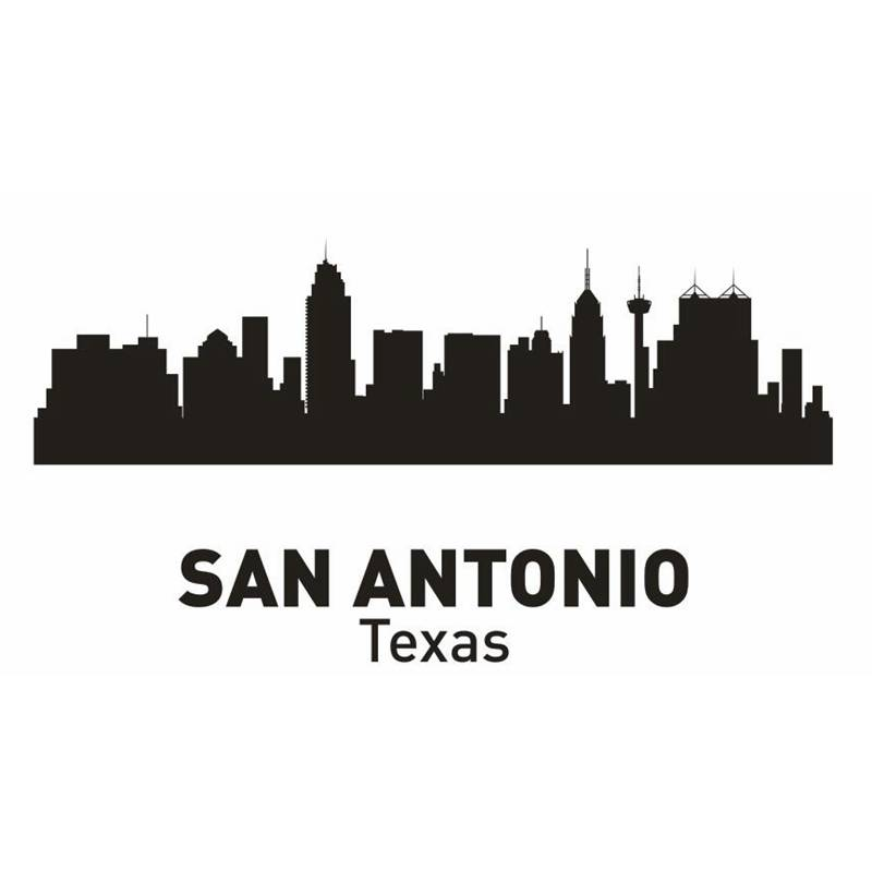 Dctal San Antonio City Decal Landmark Skyline Wall Stickers