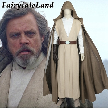Star Wars 8 Luke Skywalker Cosplay Costume Adult Men Cosplay The Last Jedi costume Carnival Halloween Luke Skywalker costume